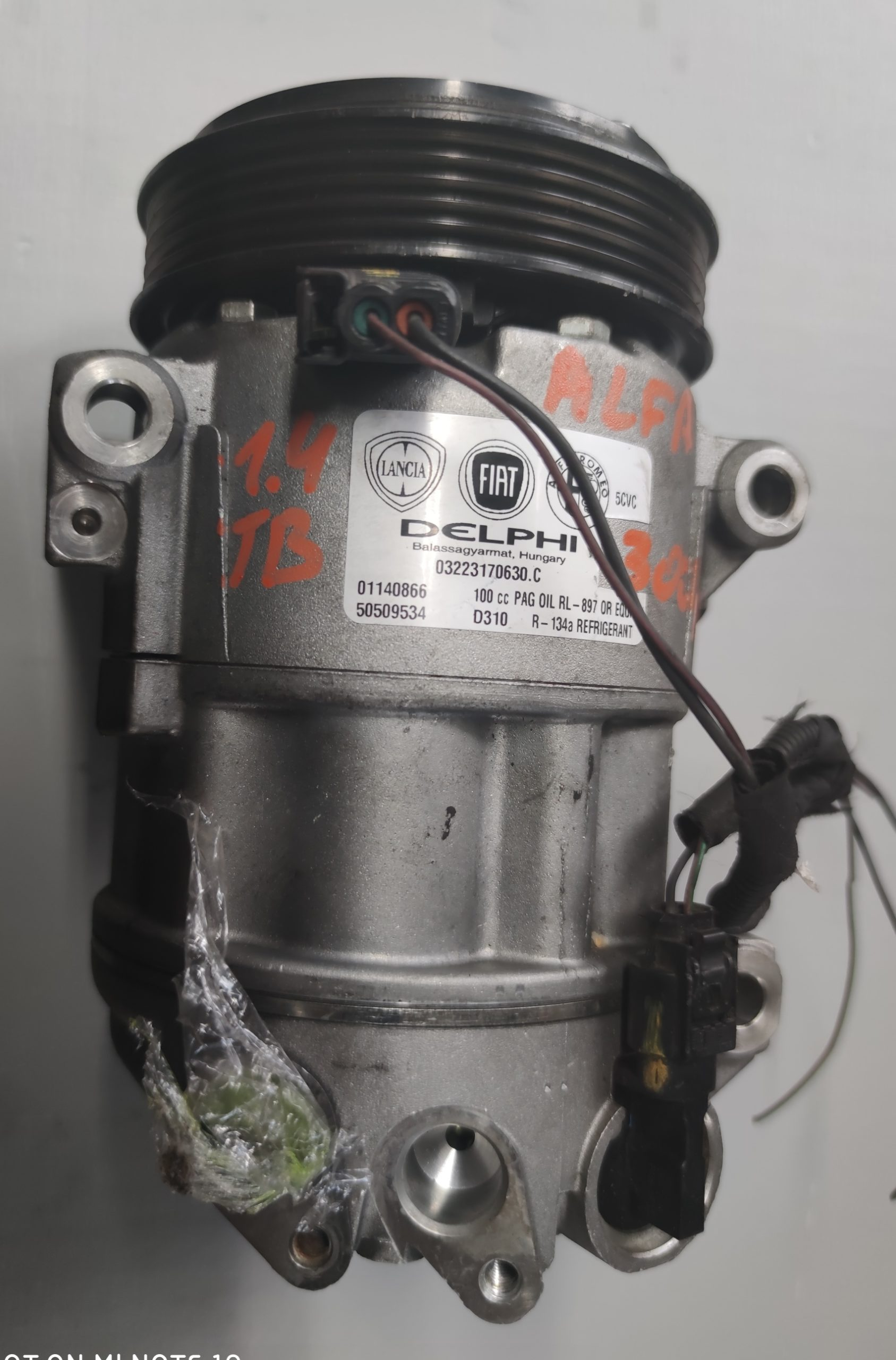 Sprężarka Klimatyzacji Alfa giulietta 1.4 TB 50509534