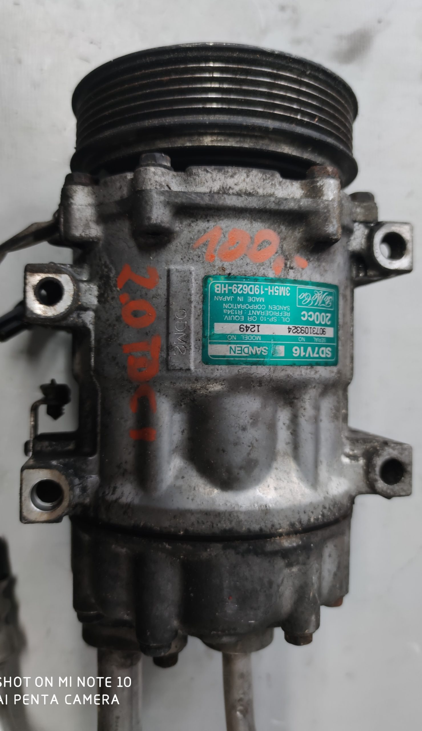 Sprężarka Klimatyzacji Ford 2.0 TDCI 3M5H-19D629-HB