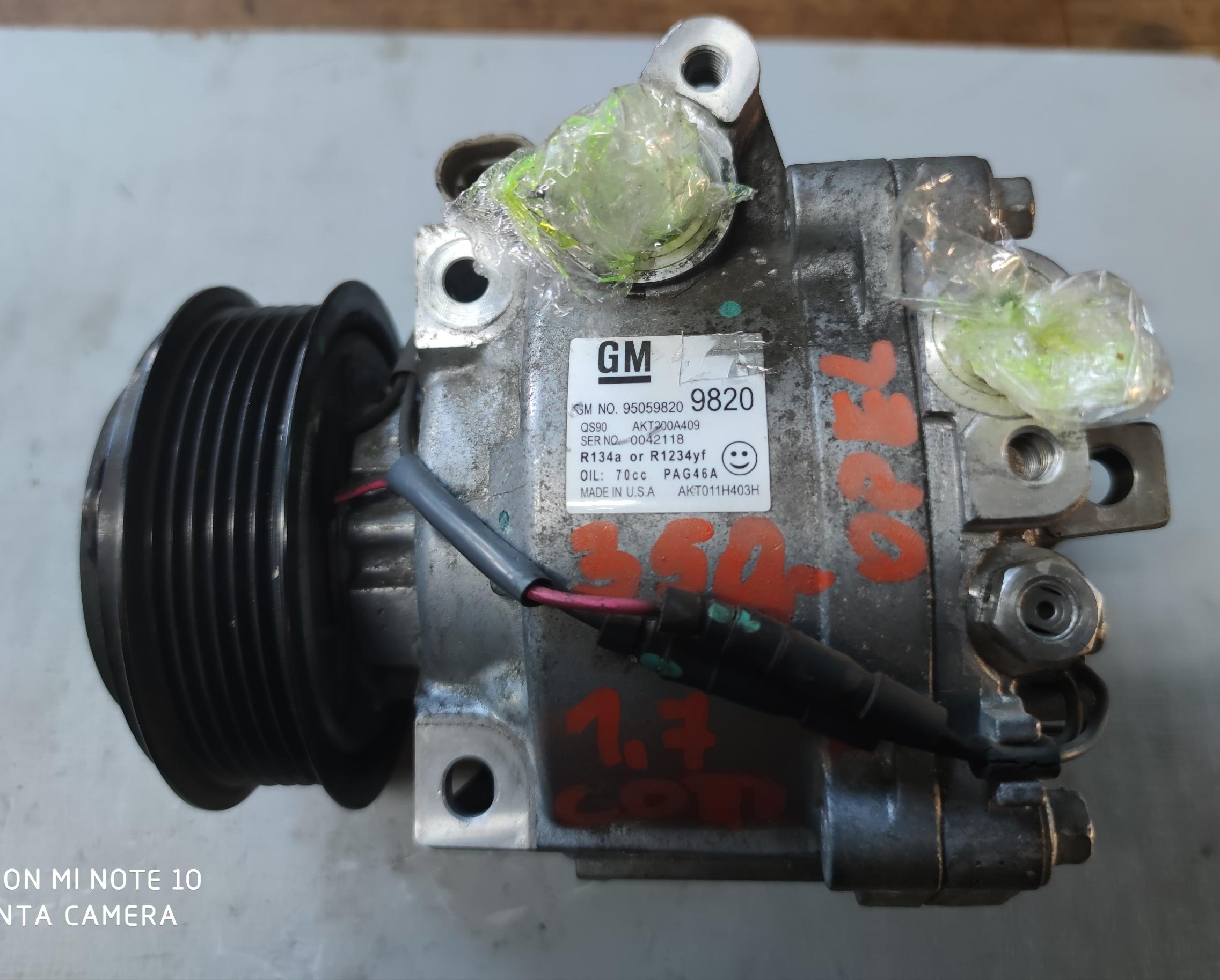 Sprężarka Klimatyzacji Opel 1.7 CDTI 95059820