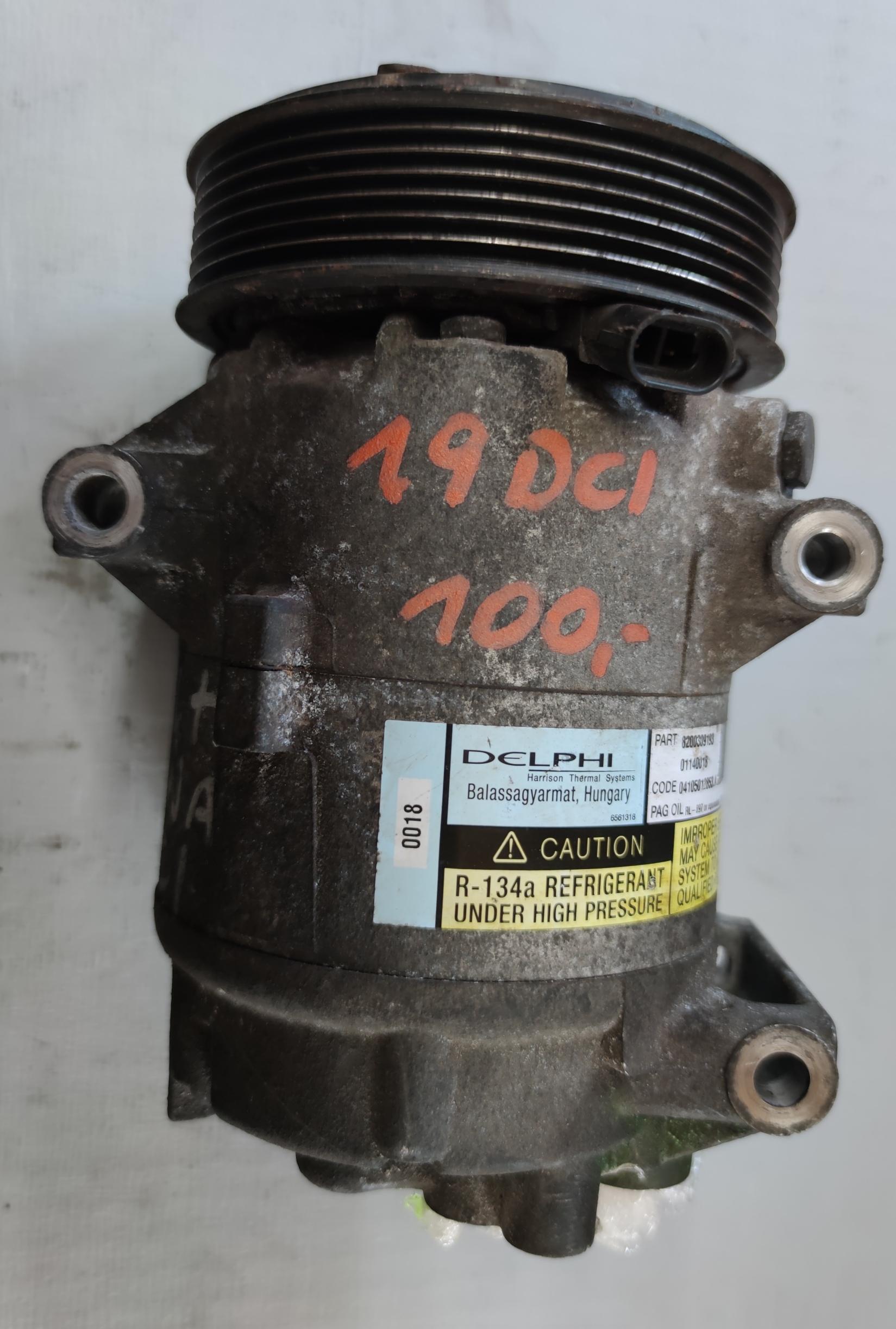 Sprężarka Klimatyzacji Renault 1.9 dci 82000309193