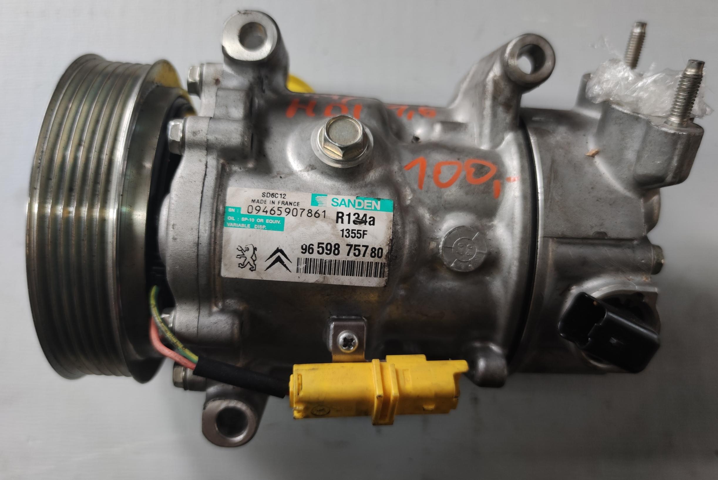 Sprężarka klimatyzacji Peugeot 1.6 HDI 9659875780