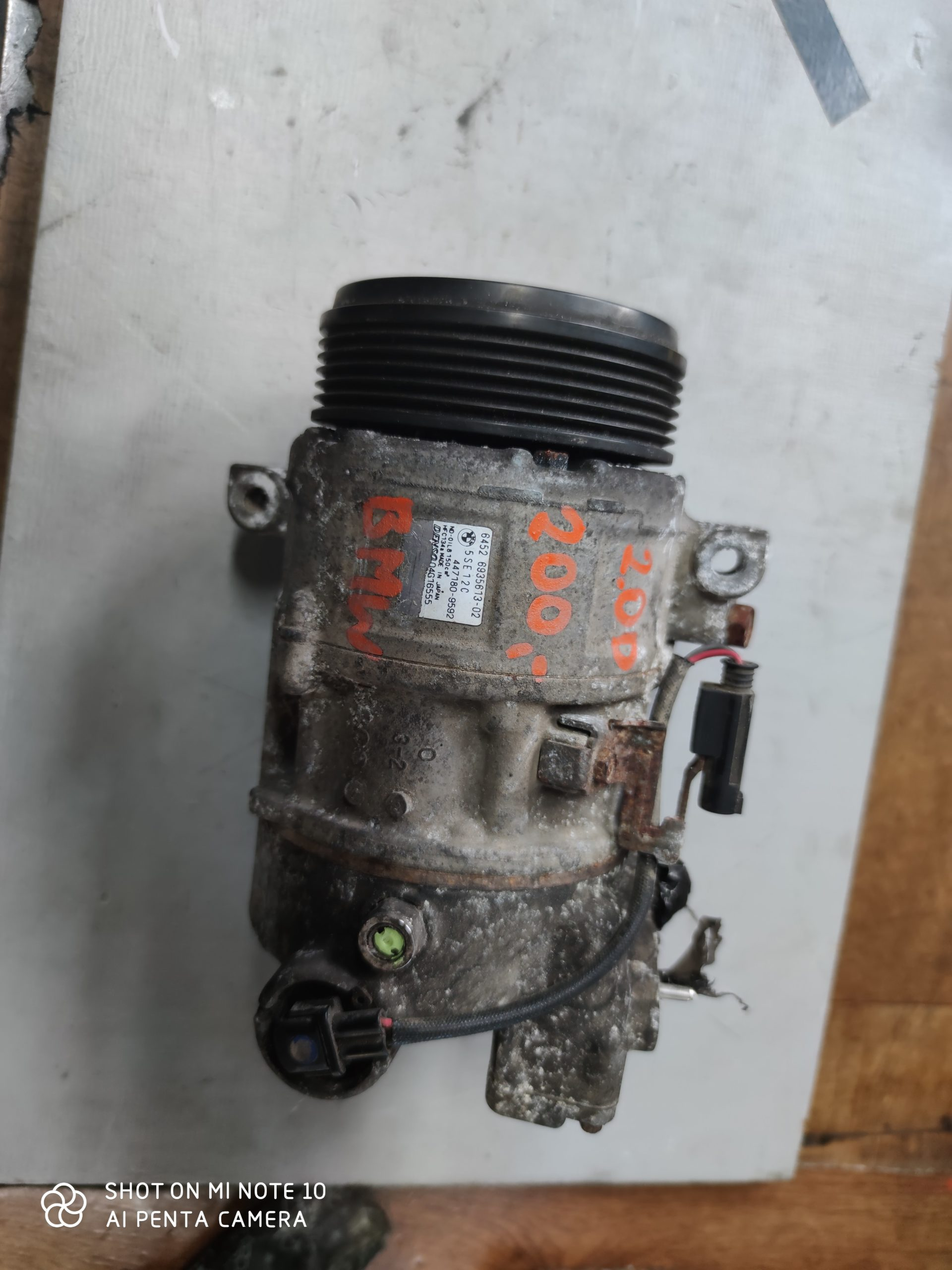 Sprężarka Klimatyzacji BMW 2.0 D 447180-9592